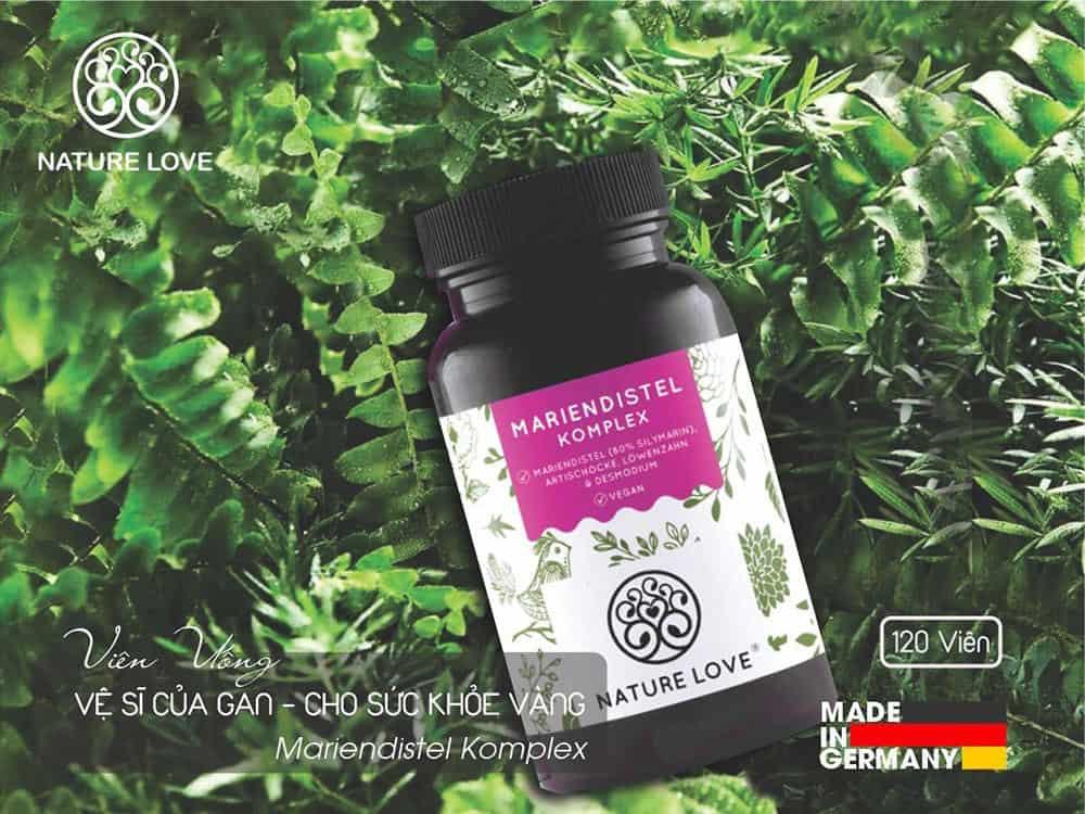 Viên Nang Uống Thải Độc Gan Nature Love Mariendistel Komplex 120 Viên